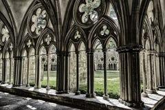 Catedral de Salisbury, modelo geométrico agnificent del arte medieval fotos de archivo libres de regalías
