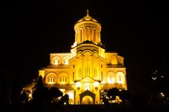 Catedral de Sameba, Tbilisi Fotografía de archivo libre de regalías