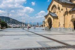 Catedral de Sameba, Tbilisi, Georgia, Europa imágenes de archivo libres de regalías