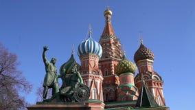 Catedral de San Basilio del La en Moscú metrajes