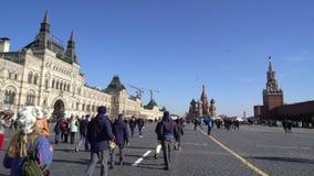 Catedral de San Basilio del La en Moscú almacen de video