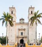 Catedral de San Gervasio en Valladolid, Yucatán, México imagen de archivo