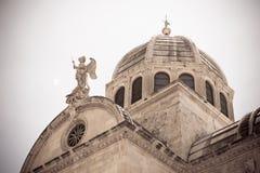 Catedral de San Jaime en Sibenik, Croacia fotografía de archivo