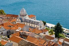 Catedral de San Jaime, Sibenik Croatia. Fotos de archivo