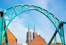 Catedral de San Juan Bautista en el Wroclaw Imagen de archivo libre de regalías
