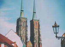 Catedral de San Juan Bautista en el Wroclaw Imagenes de archivo