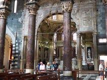Catedral de San Lorenzo de Génova Camogli, Italia Fotografía de archivo libre de regalías