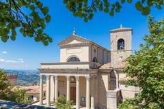 Catedral de San Marino, la República de San Marino Imagen de archivo