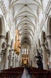 Catedral de San Miguel en Bruselas Foto de archivo