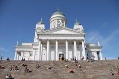 Catedral de San Nicolás (catedral) en Helsinki, Finlandia Fotos de archivo libres de regalías