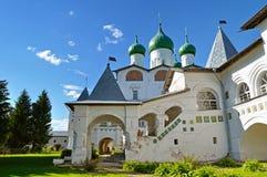 Catedral de San Nicolás en el monasterio stauropegic de Nicholas Vyazhischsky, Veliky Novgorod, Rusia Imagen de archivo