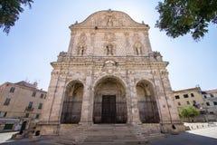 Catedral de San Nicola, Sassari, Itália fotos de stock