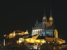 Catedral de San Pedro y Paul y castillo Spilberk Fotos de archivo