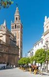 Catedral DE Santa MarÃa DE La Sede, Sevilla, Andalucia, Spanje Stock Afbeelding