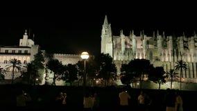 Catedral de Santa Mar Palma de Mallorca stock footage