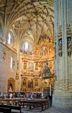 Catedral de Santa Maria av Plasencia spain Arkivfoton