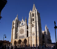 Catedral de Santa Maria de Leon Arkivfoton
