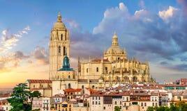 Catedral de Santa Maria de Segovia, Castilla y Leon, Spanien Arkivbild