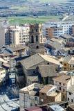 Catedral de Santa Maria del Romeral Monzon Spain Fotografía de archivo