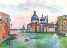 Catedral de Santa Maria della Salute em Veneza Imagem de Stock Royalty Free