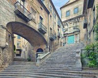 Catedral de Santa Maria Girona Fotografía de archivo
