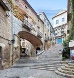 Catedral de Santa Maria Girona Arkivfoton