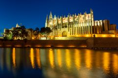 Catedral de Santa Maria de Palma, Mallorca, Espanha foto de stock