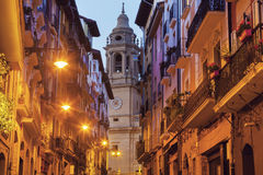 Catedral de Santa Maria in Pamplona Royalty Free Stock Images