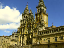 Catedral de Santiago de Compostela, España 2 Imagen de archivo libre de regalías