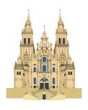 Catedral de Santiago de Compostela, España Ilustración del vector Fotografía de archivo libre de regalías
