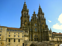 Catedral de Santiago de Compostela, España Fotografía de archivo
