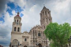 Catedral de Santiago en Saltillo, México Imagen de archivo libre de regalías