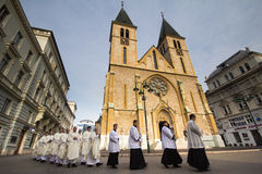 Catedral de Sarajevo Foto de archivo