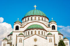 Catedral de Sava del santo Belgrado, Serbia Foto de archivo libre de regalías