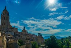 Catedral de Segovia foto de stock