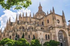 Catedral de Segovia o llamada correctamente en español fotografía de archivo libre de regalías