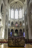 Catedral de Senlis, interior Imagen de archivo