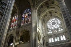Catedral de Senlis, interior Fotografía de archivo libre de regalías