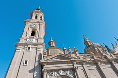 Catedral de Seo do La em Zaragoza, Spain Foto de Stock Royalty Free