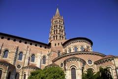 Catedral de Sernin de Saint em Toulouse, França imagens de stock royalty free