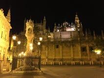 Catedral de Sevilla. At night in Seville Spain Stock Photos