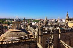 Catedral de Sevilla, Seville Cathedral - view from Giralda Tower stock image