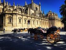 Catedral de Sevilla in Spain, Sevilla. The photo of the Catedral de Sevilla in Spain, Sevilla Royalty Free Stock Images