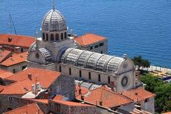 Catedral de Sibenik fotos de archivo