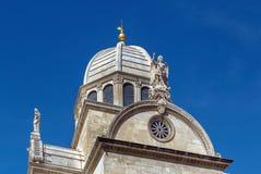 Catedral de Sibenik, Croácia Fotografia de Stock Royalty Free