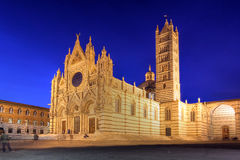 Catedral de Siena, Italia Imágenes de archivo libres de regalías