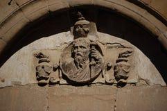 Catedral de Siguenza - arco da entrada Imagem de Stock