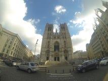 Catedral de Sint-Michiel y de Sint-Goedele imagen de archivo