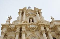 A catedral de Siracusa Imagem de Stock