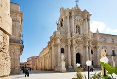 Catedral de Siracusa, Sicília Fotos de Stock Royalty Free